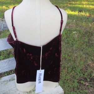 Lumiere Tops - LUMIERE WOMENS LACE AND VELVET CAMI SZ SMALL